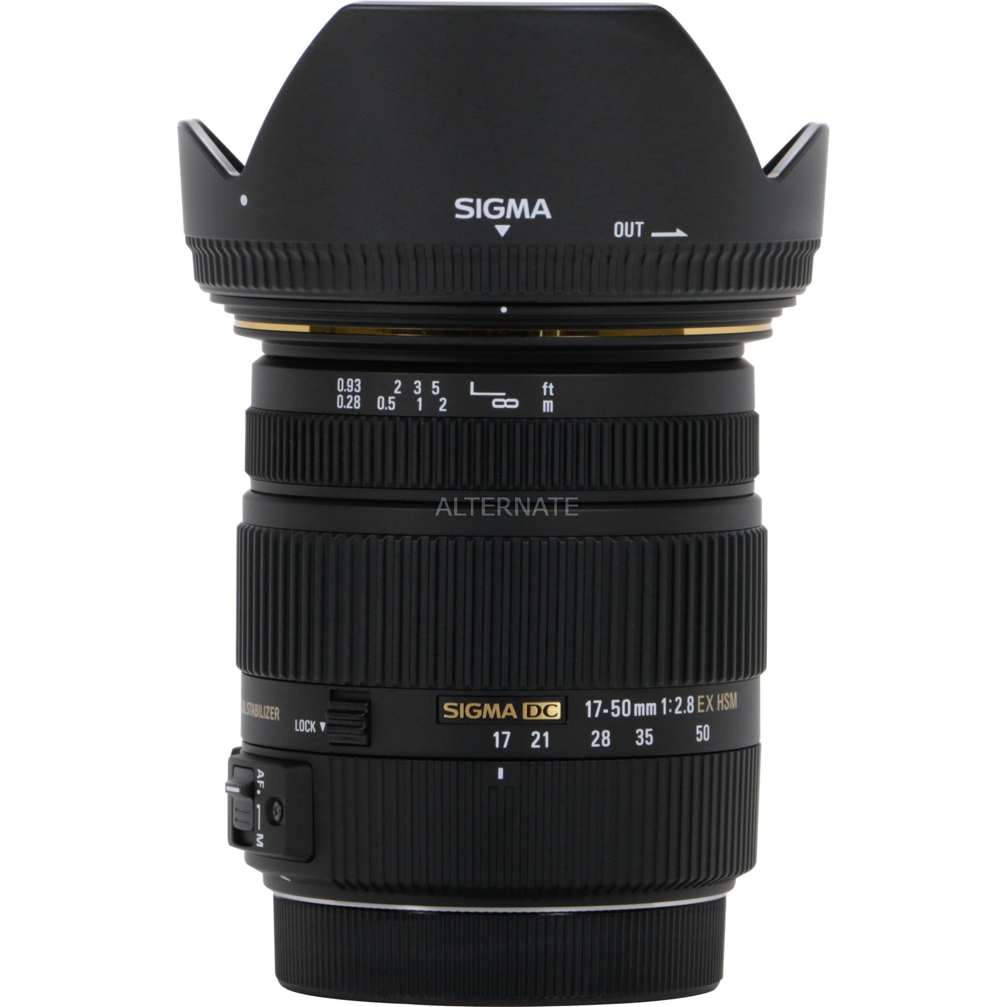 17-50mm F2.8 EX DC OS HSM SLR Objetivo de zoom estándar Negro, Objetivos