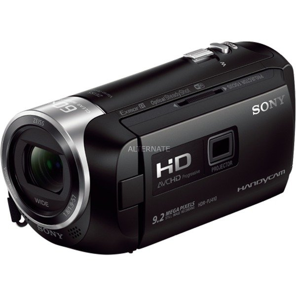 HDRPJ410 2,29 MP CMOS Videocámara manual Negro Full HD, Cámara de vídeo