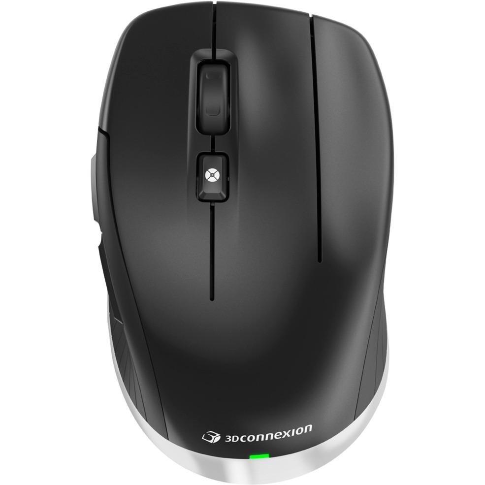 CadMouse Wireless Bluetooth+USB Óptico 7200DPI mano derecha Negro ratón