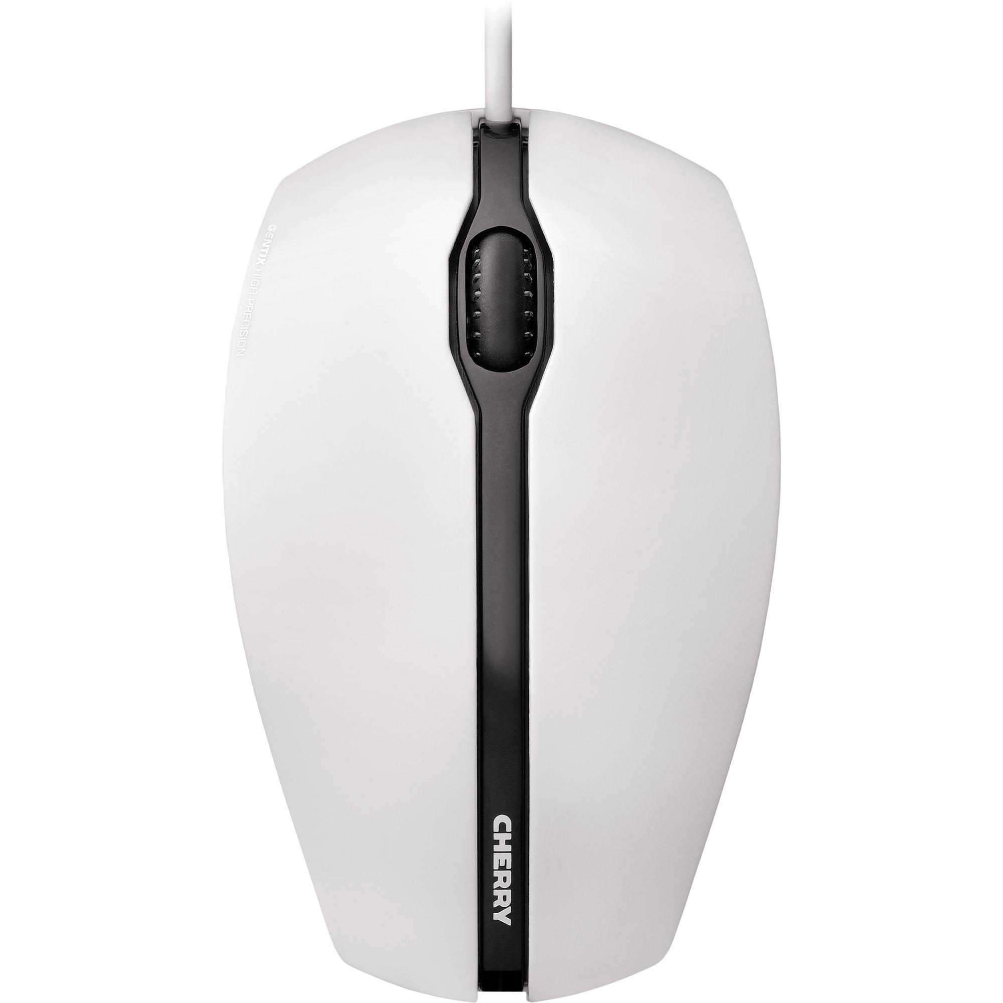 GENTIX USB Óptico 1000DPI Ambidextro Negro, Gris ratón