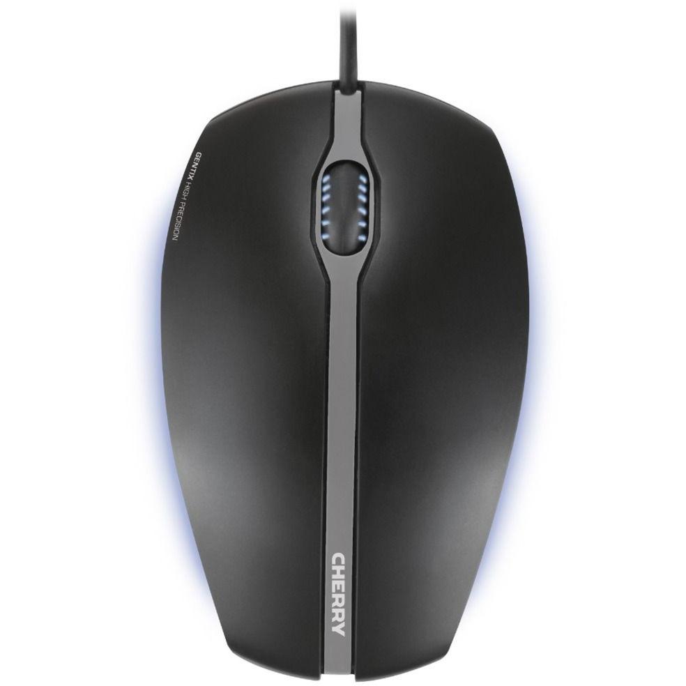 Gentix Illuminated ratón USB Óptico 1000 DPI Ambidextro Negro