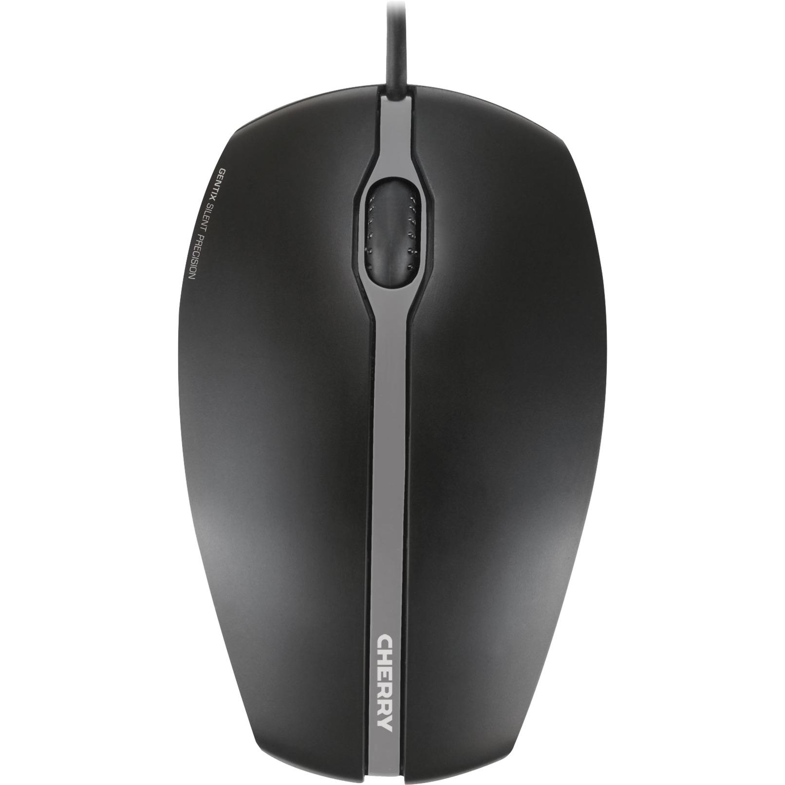 Gentix Silent USB Óptico 1000DPI Ambidextro Negro ratón