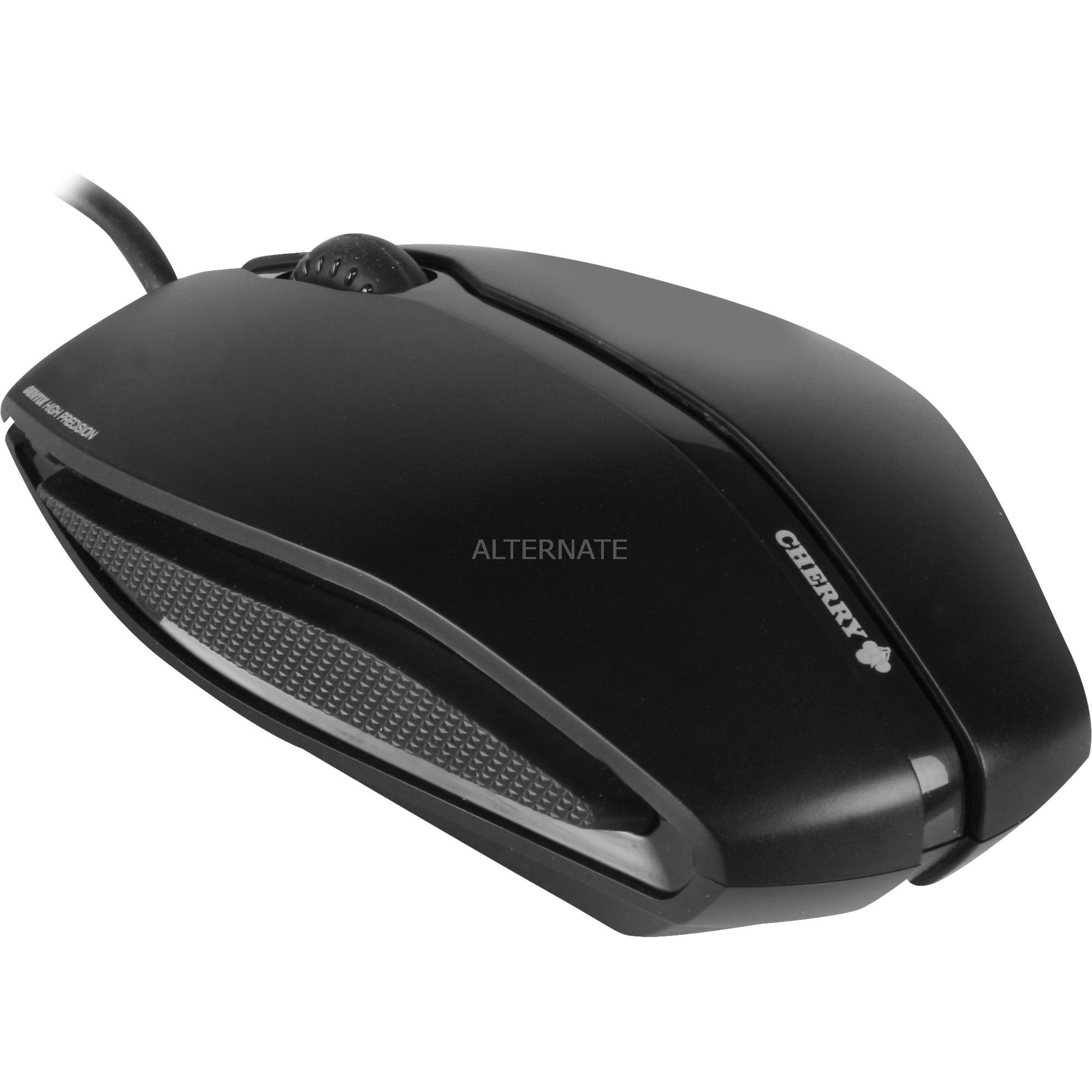 Gentix ratón USB Óptico 1000 DPI Ambidextro Negro