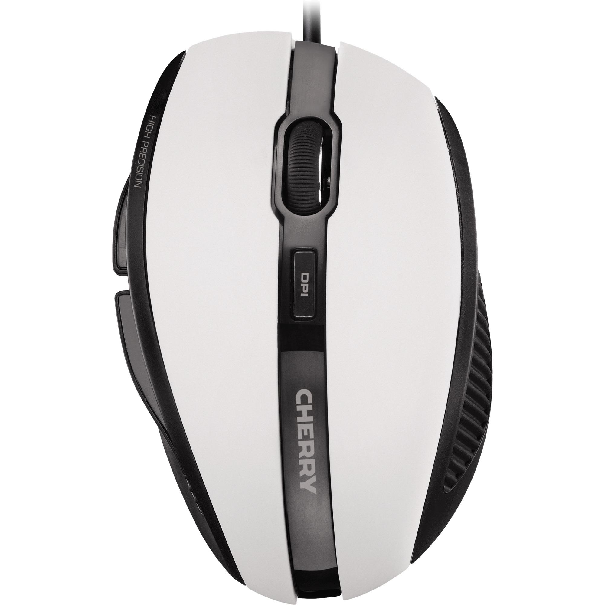 MC 3000 USB Óptico 1000DPI mano derecha Gris, Color blanco ratón