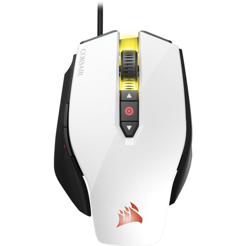 Gaming M65 PRO RGB USB Óptico 12000DPI mano derecha Negro, Color blanco...