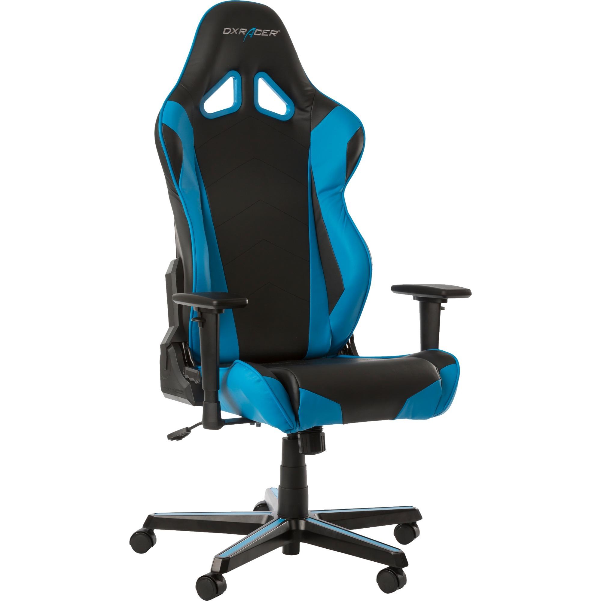 Racing Series Gaming Chair - Black/Blue OH/RZ0/NB Asiento acolchado Respaldo acolchado silla de oficina y de ordenador, Asientos de juego