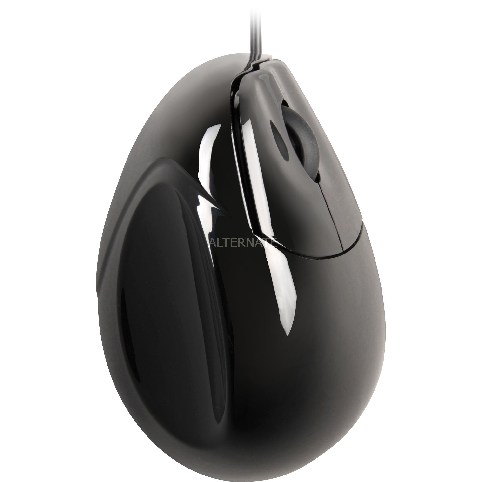 VMSR ratón USB 1200 DPI mano derecha Negro, Plata
