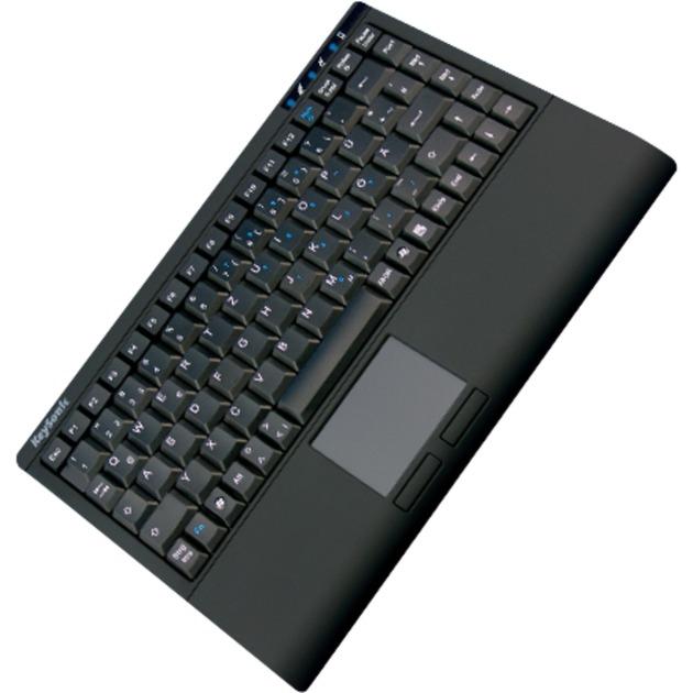 ACK-540U+ USB QWERTY Inglés del Reino Unido Negro, Teclado