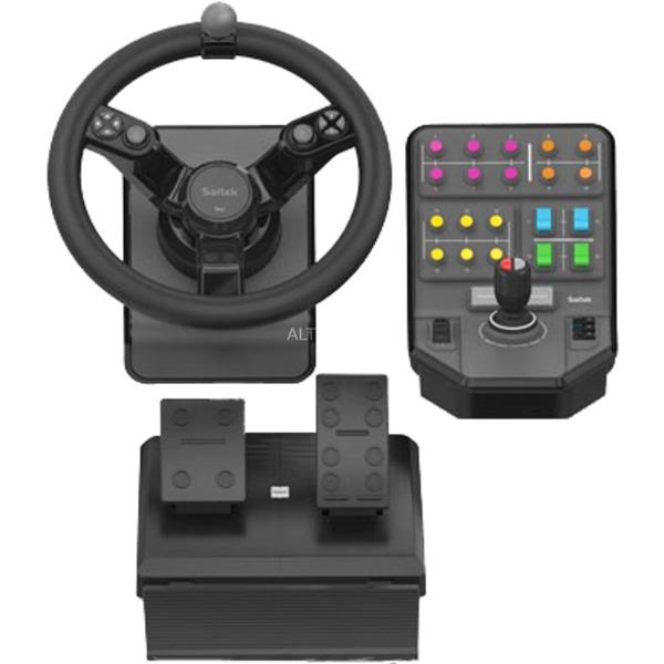 945-000007 Volante + Pedales PC Negro mando y volante