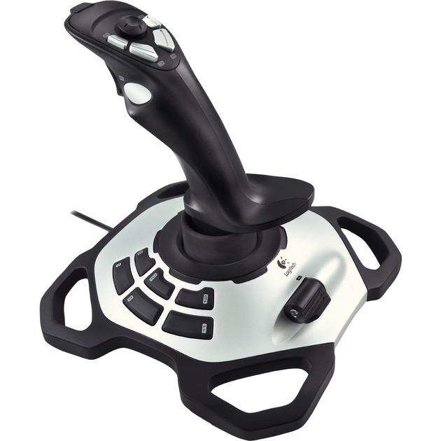 Extreme 3D Pro Palanca de mando PC Negro, Blanco