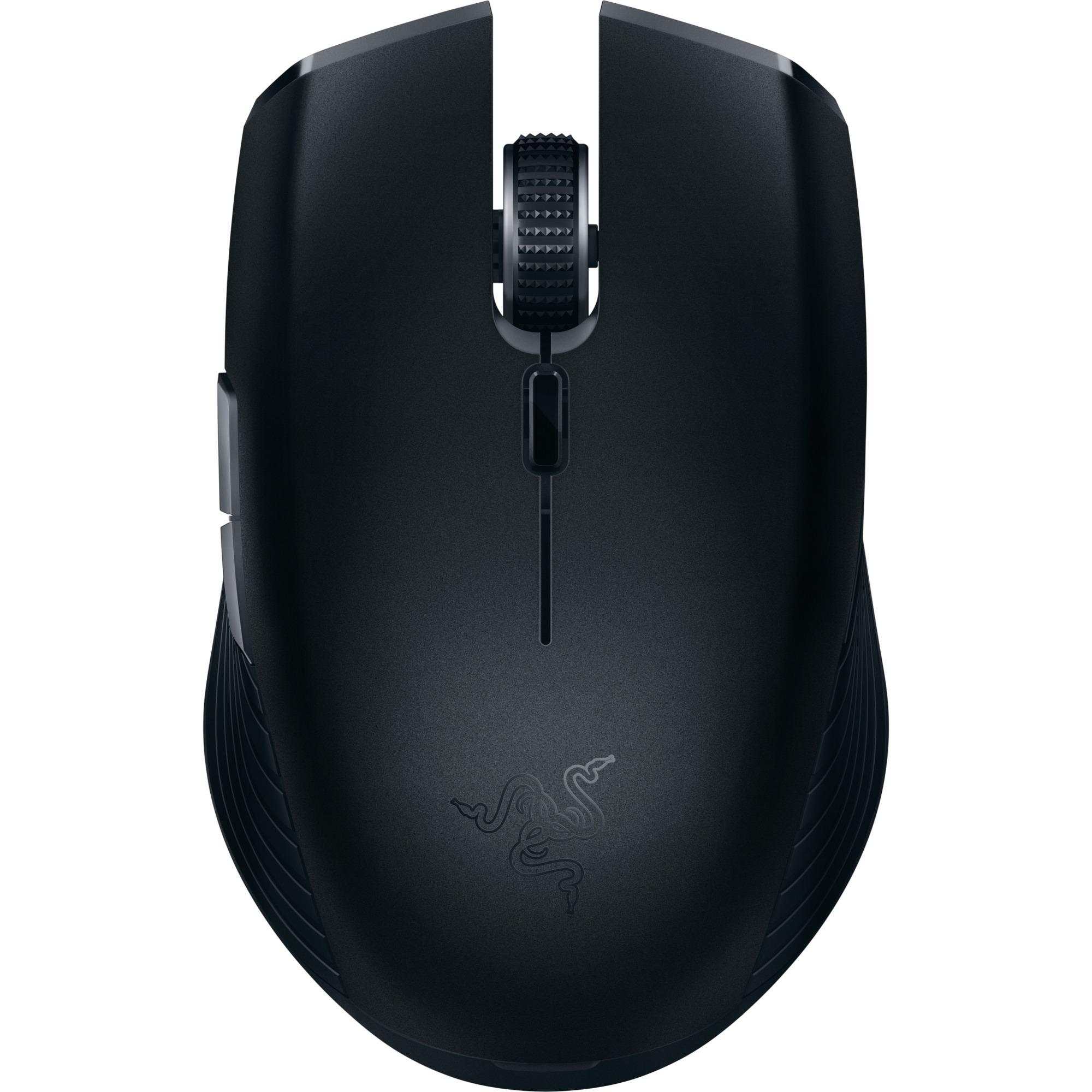 Atheris ratón Bluetooth Óptico 7200 DPI Ambidextro Negro