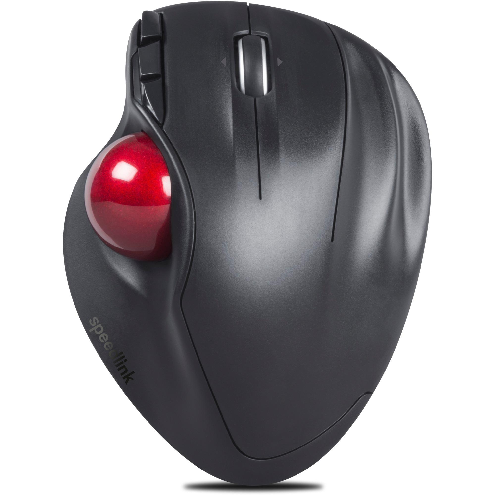 APTICO RF inalámbrico Laser 1600DPI mano derecha Negro ratón, Trackball