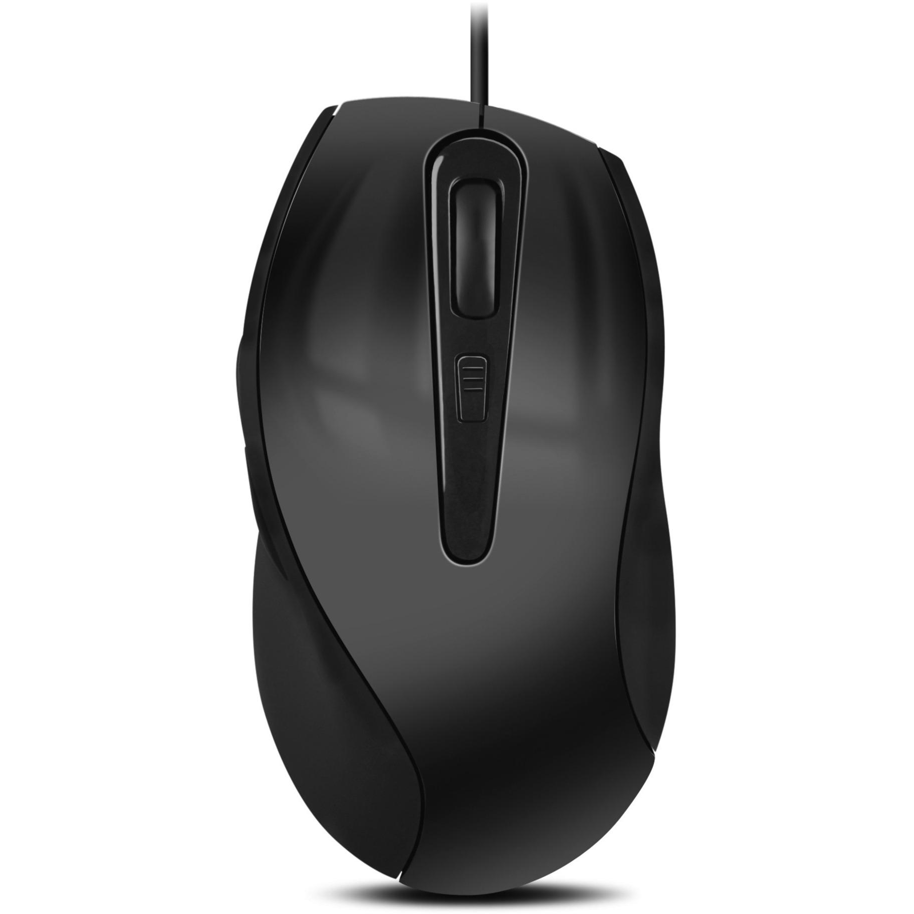 Axon USB Óptico 2400DPI Ambidextro Negro, Gris ratón