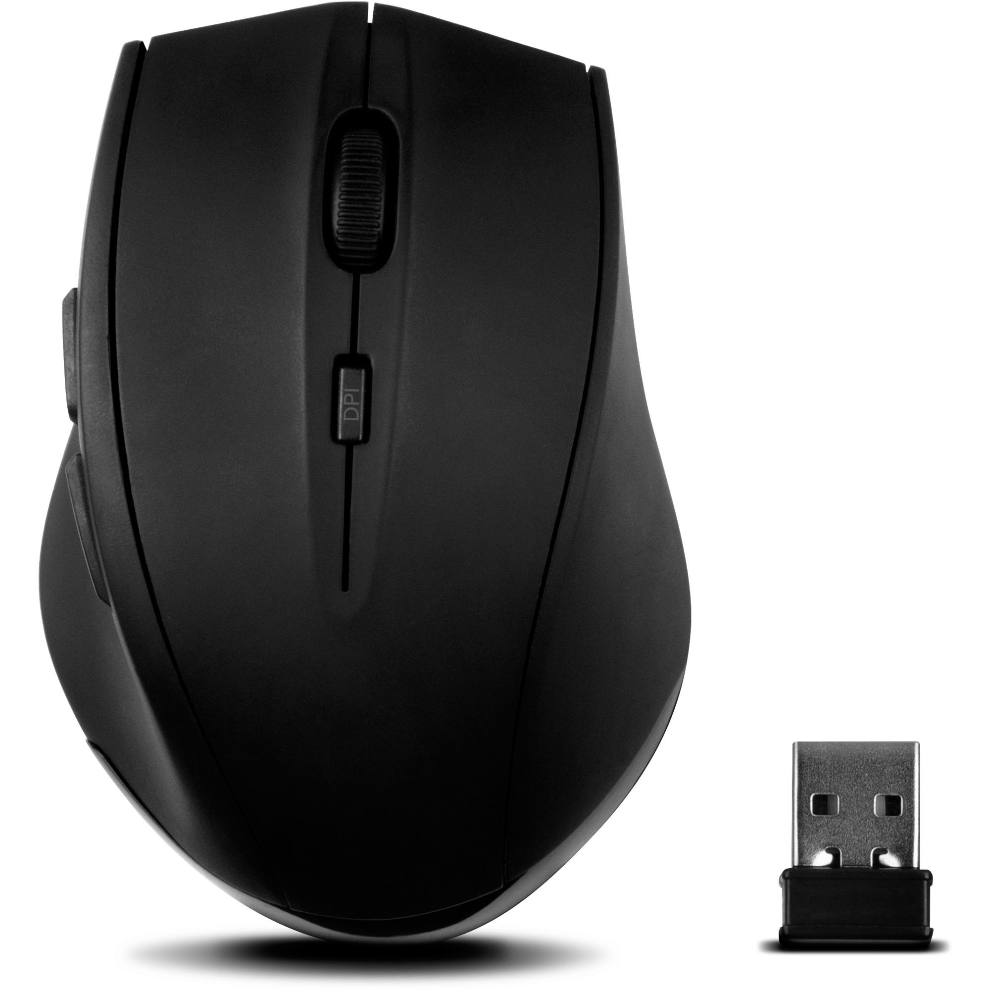 CALADO ratón RF inalámbrico 1600 DPI Negro