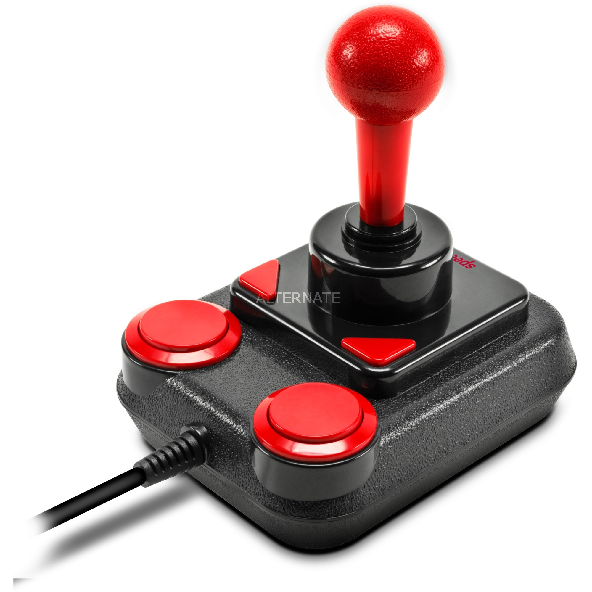 Competition Pro Extra Palanca de mando Android,PC Analógico USB 1.1 Negro, Rojo