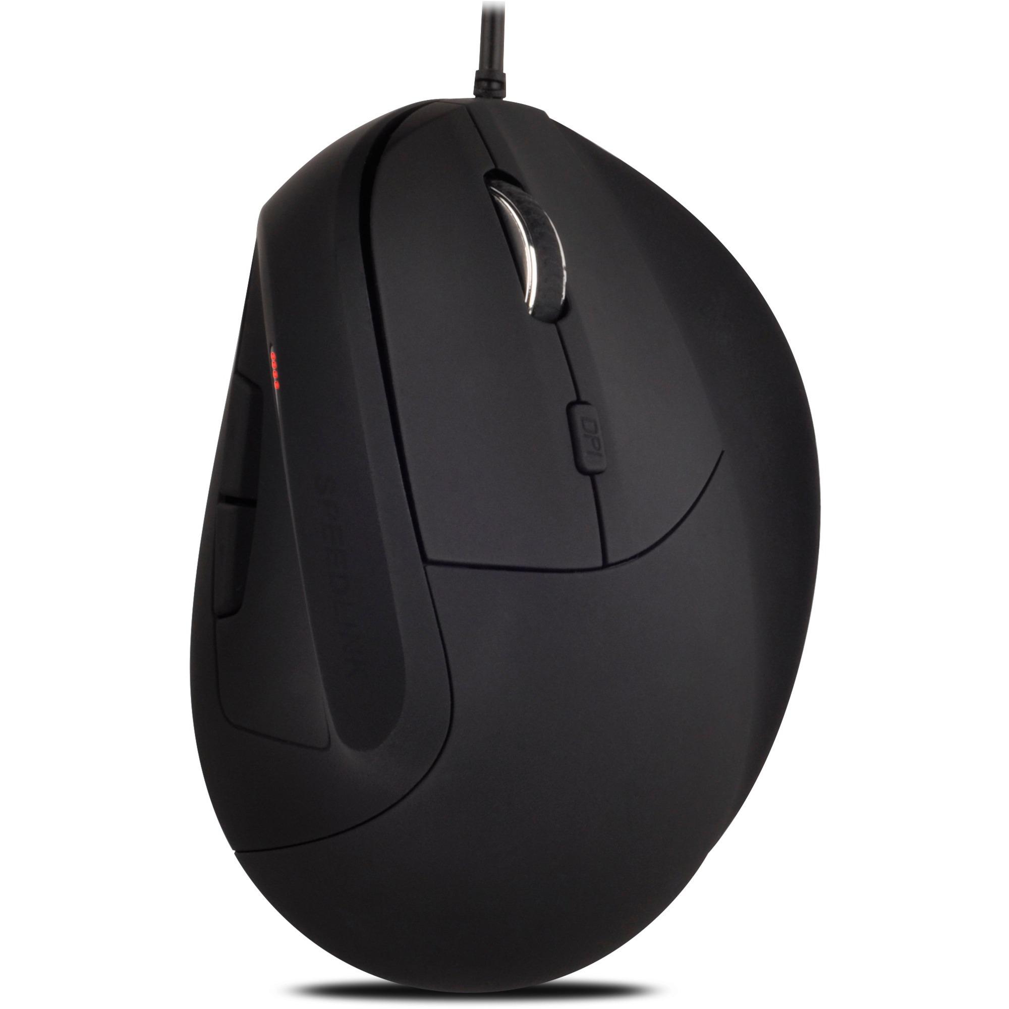 Descano ratón USB 2400 DPI mano derecha