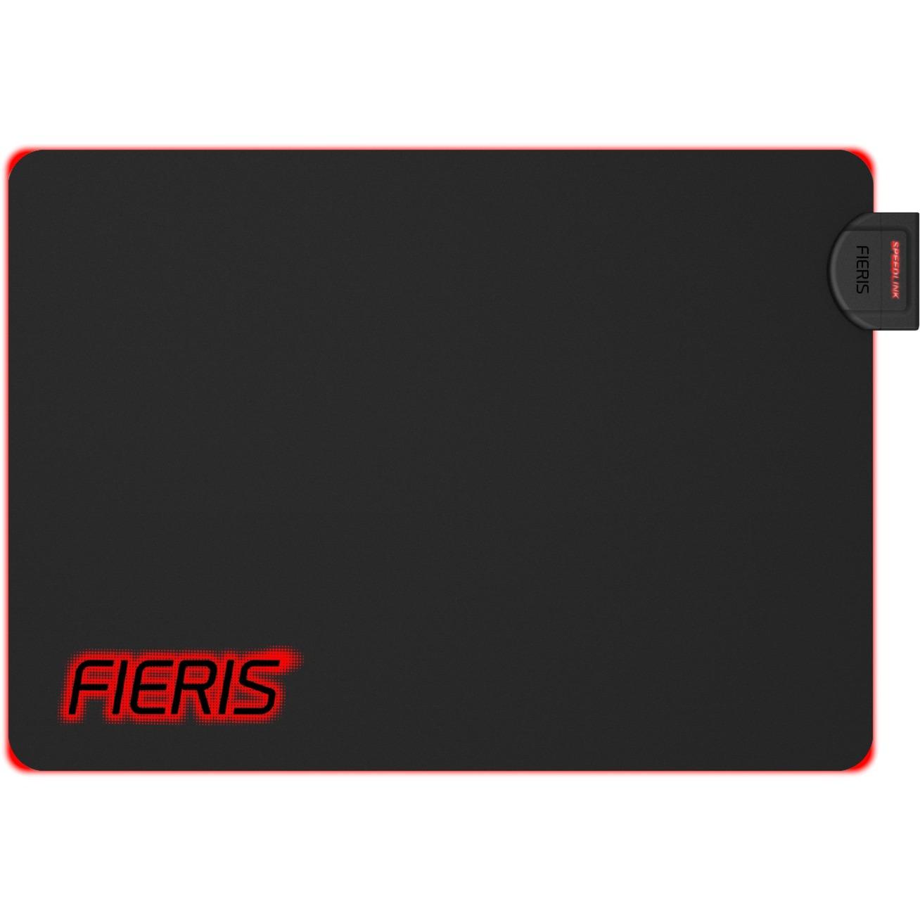 FIERIS Negro, Rojo Alfombrilla de ratón para juegos