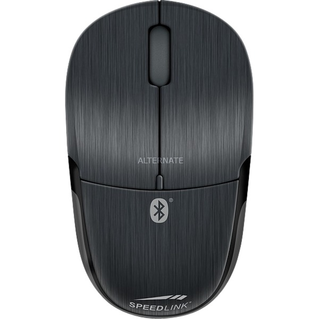 JIXSTER ratón Bluetooth Óptico 1400 DPI Ambidextro Negro