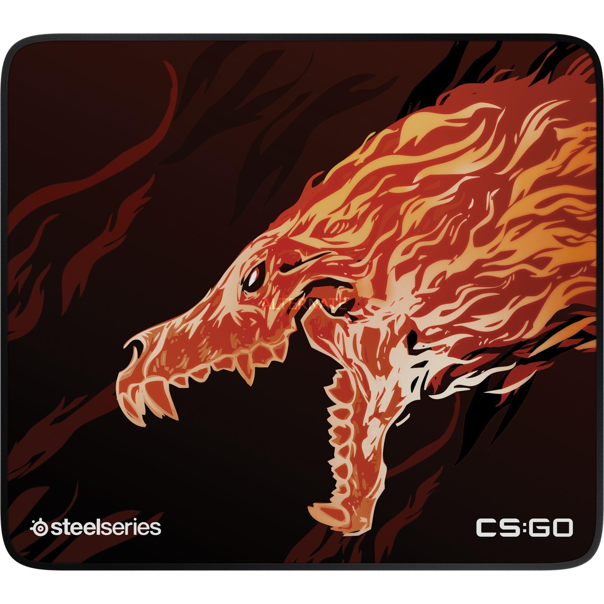 QcK+ Limited Howl Edition Negro, Rojo, Amarillo Alfombrilla de ratón para juegos
