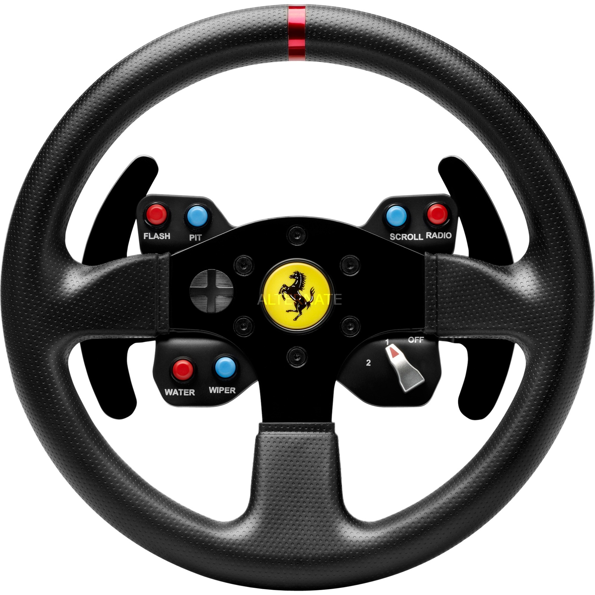Ferrari 458 Challenge Wheel Add-On Volante PC,Playstation 3 Negro, Volante de recambio