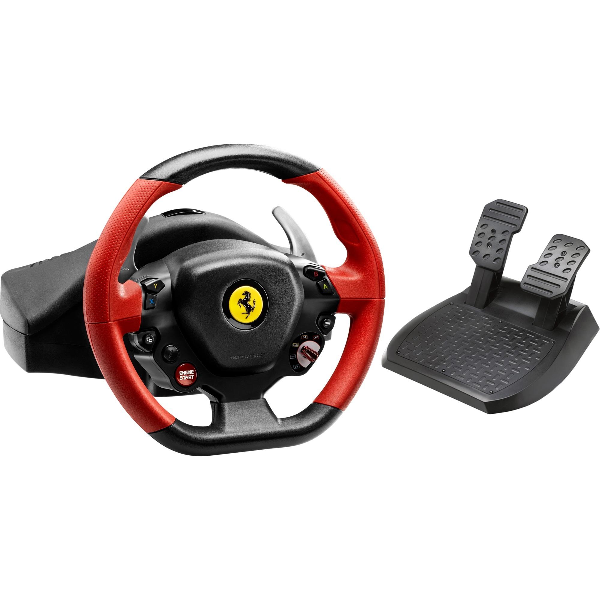 Ferrari 458 Spider Volante + Pedales Xbox One Negro, Rojo