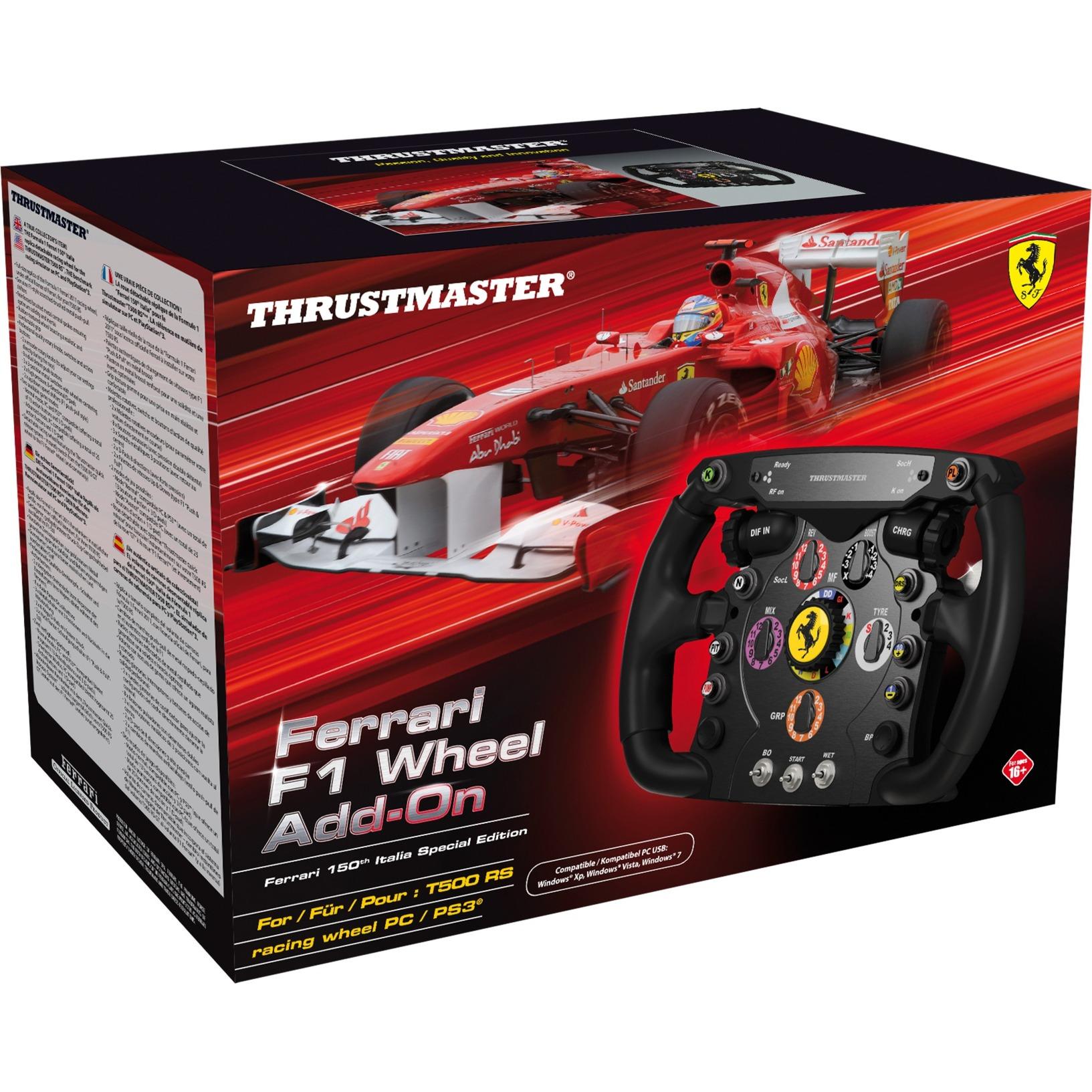 Ferrari F1 Wheel Add-On Especial PC Negro, Volante de recambio