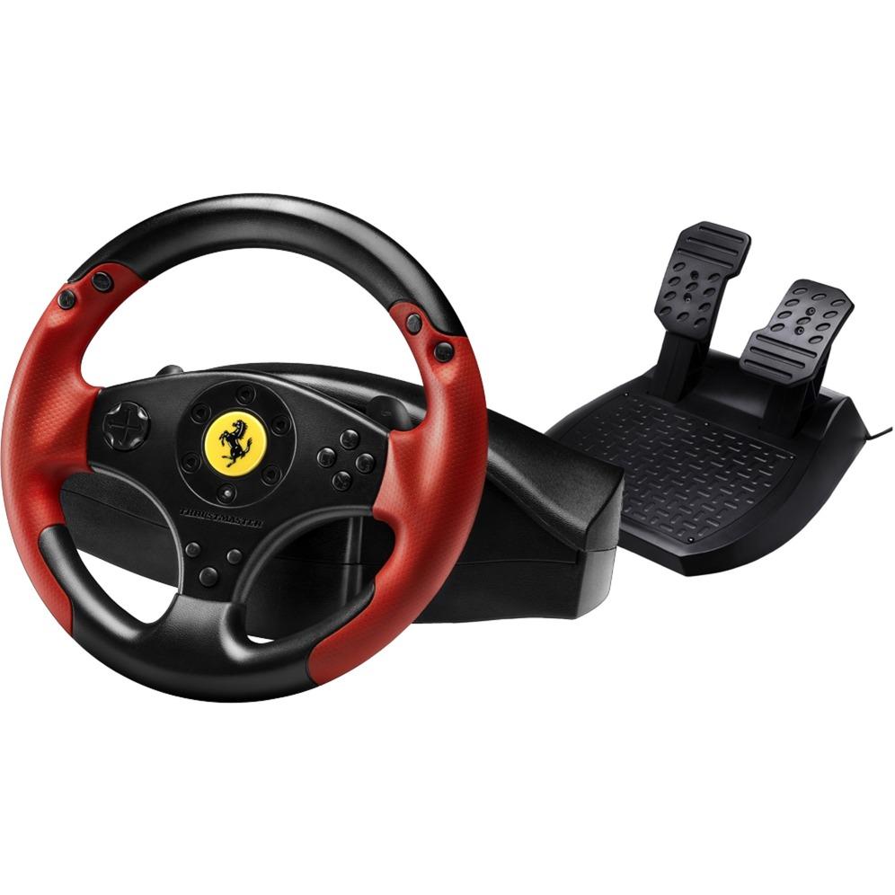 Ferrari Racing Wheel Red Legend PS3&PC Volante + Pedales PC,Playstation 3 Negro, Rojo