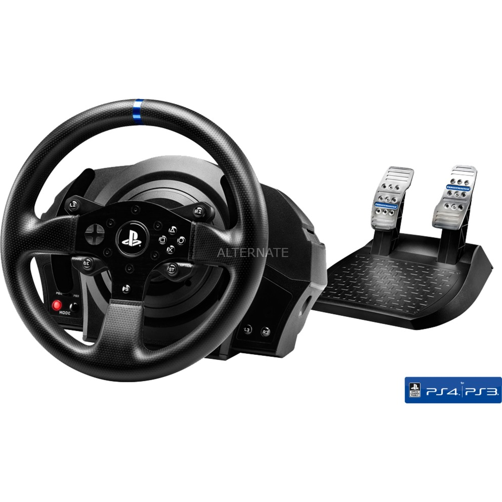 T300RS Volante + Pedales PC, Playstation 3, PlayStation 4 Negro