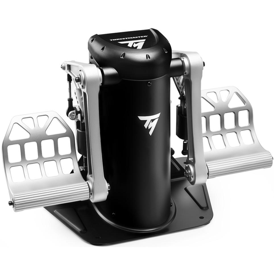 TPR Rudder Simulador de Vuelo PC Analógico USB Negro, Plata, Pedales