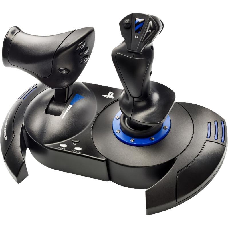 T.Flight Hotas 4 Palanca de mando PC,PlayStation 4 Digital USB 2.0 Negro, Azul, Hotas (mando más palanca de control)