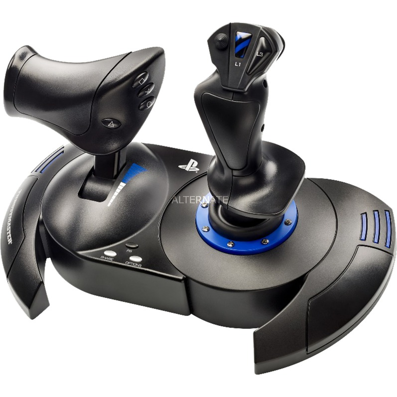 T.Flight Hotas 4 Palanca de mando PC, PlayStation 4 Negro, Azul