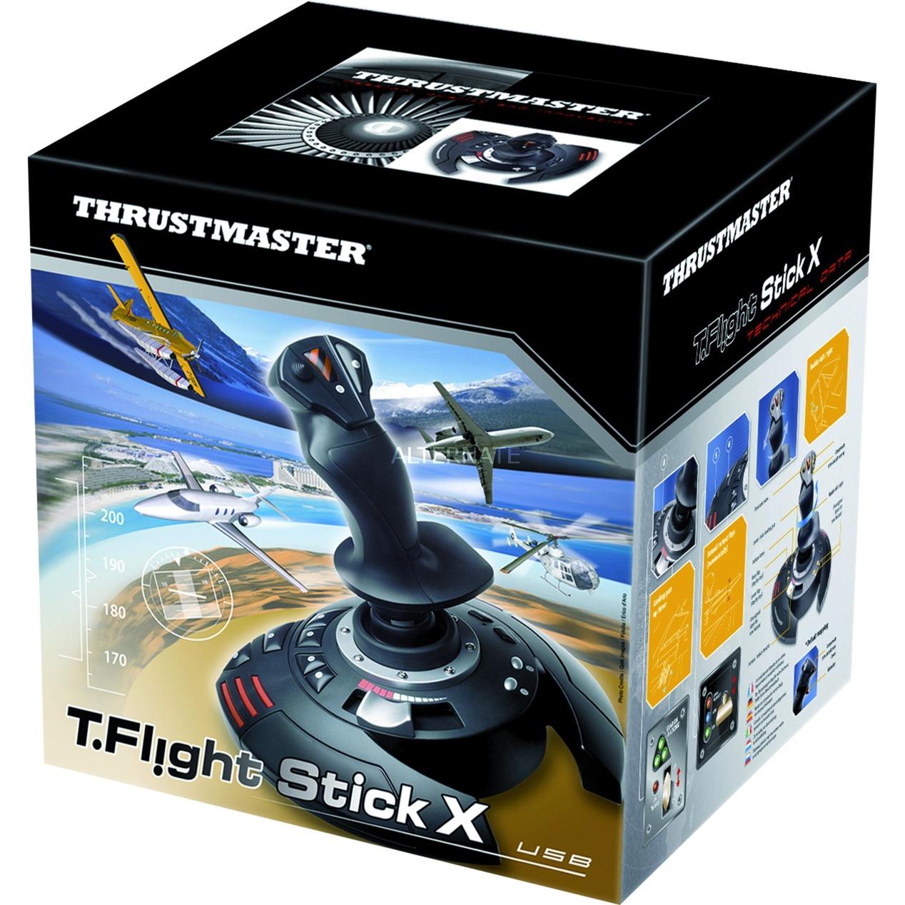 T.Flight Stick X Palanca de mando Playstation 3 Negro