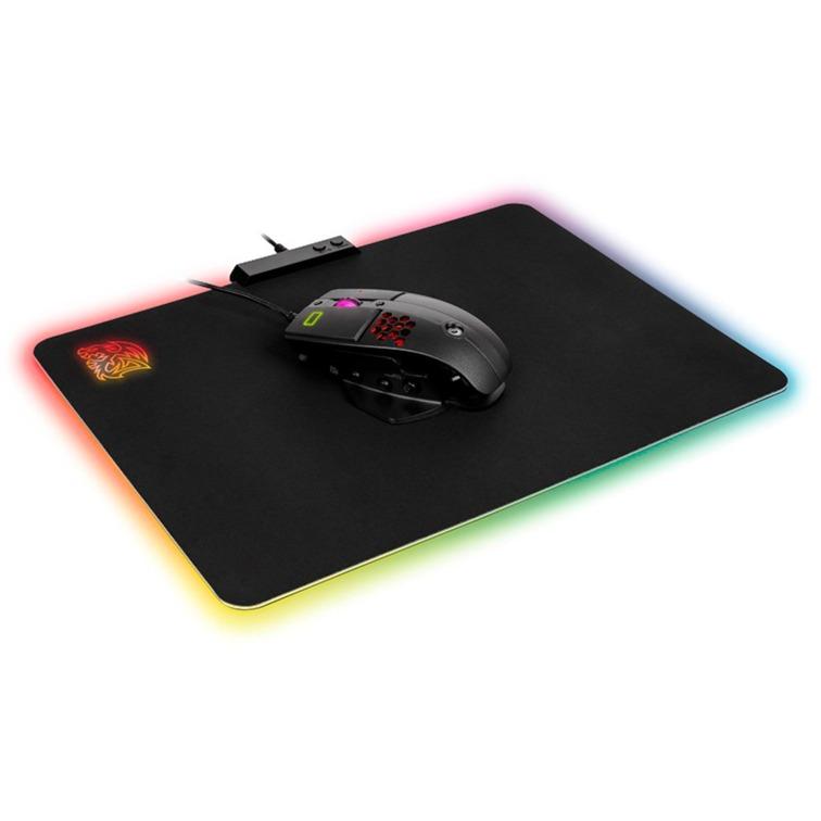 DRACONEM RGB – Cloth Edition Alfombrilla de ratón para juegos Negro