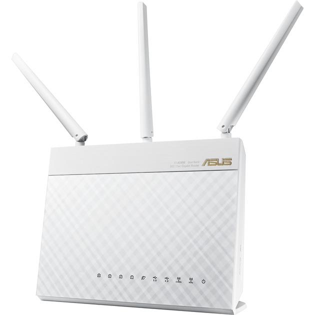 RT-AC68U Doble banda (2,4 GHz / 5 GHz) Gigabit Ethernet Blanco router inalámbrico