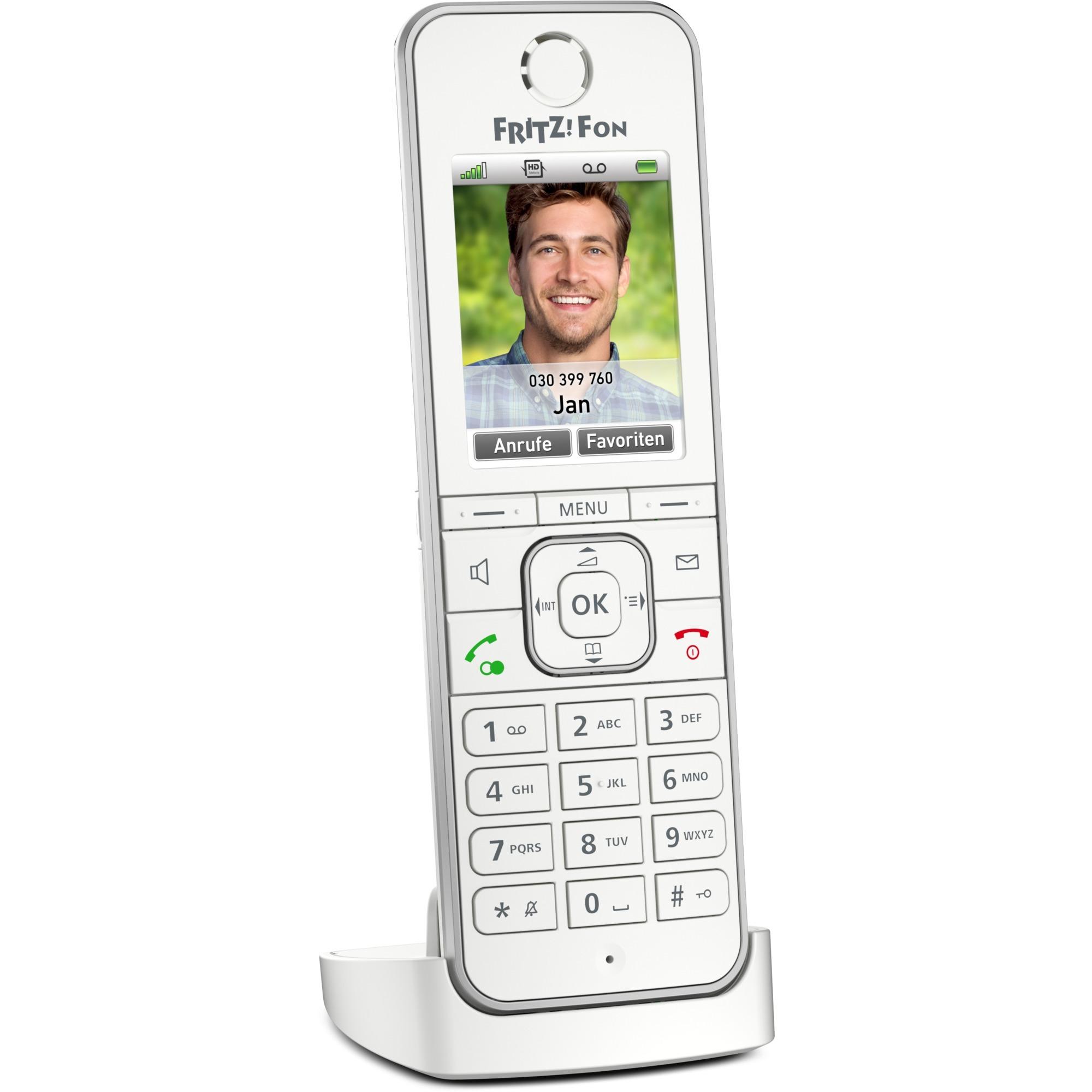 FRITZ!Fon C6 Teléfono DECT Blanco Identificador de llamadas, Unidad móvil