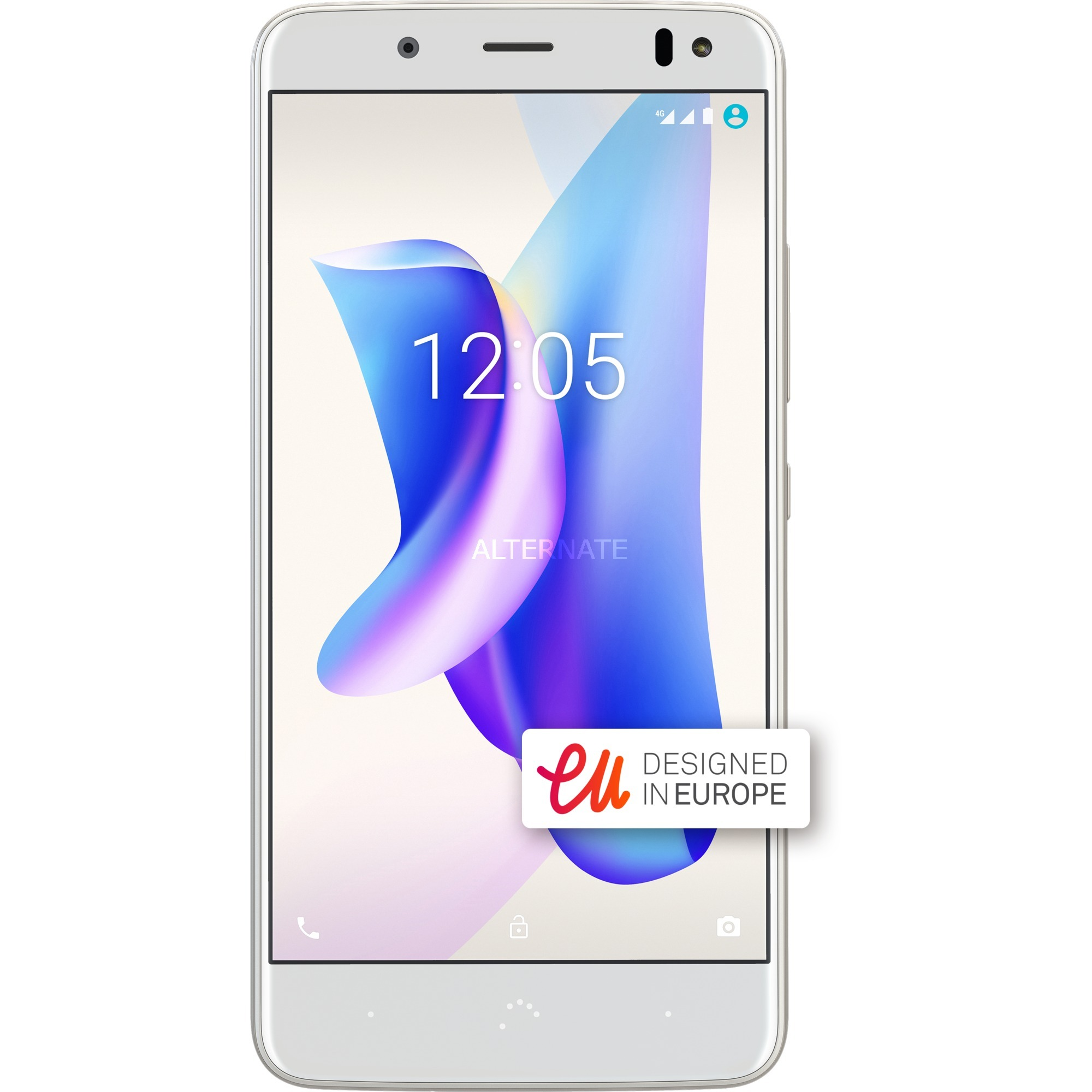 Aquaris U2 Lite SIM doble 4G 16GB Oro, Blanco, Móvil