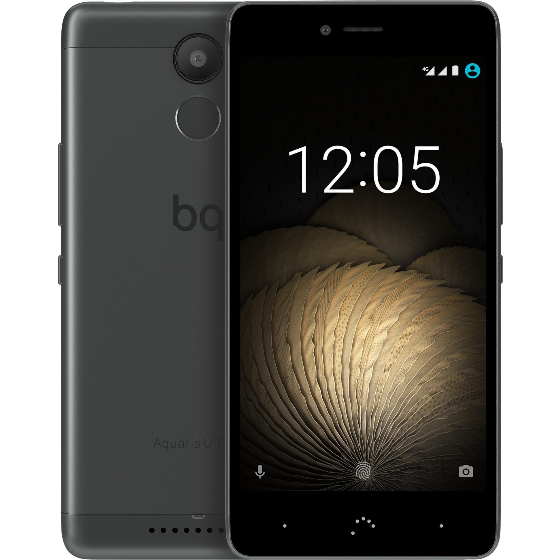 Aquaris U Plus SIM doble 4G 16GB Negro, Gris, Móvil