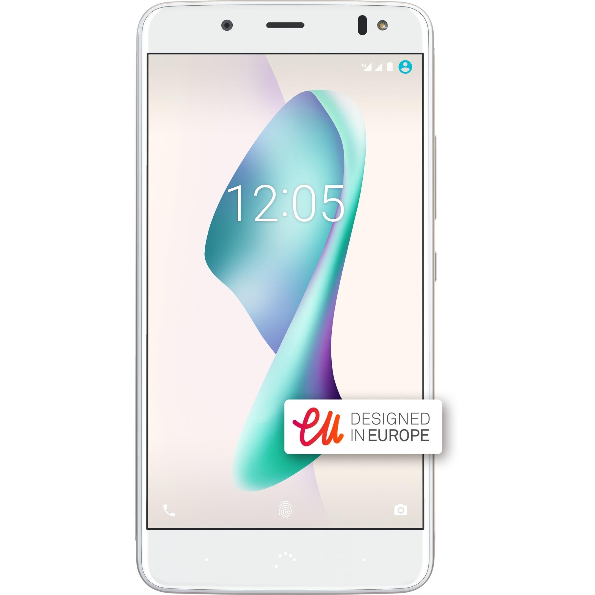 Aquaris V Plus SIM doble 4G 32GB Oro, Blanco, Móvil