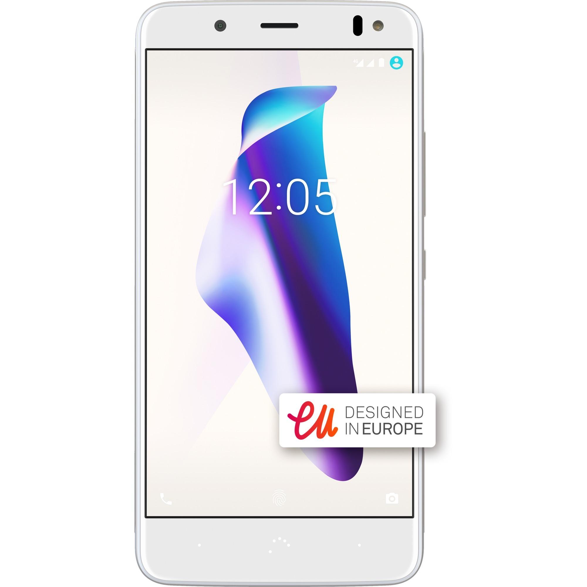 Aquaris V SIM doble 4G 16GB Oro, Blanco, Móvil