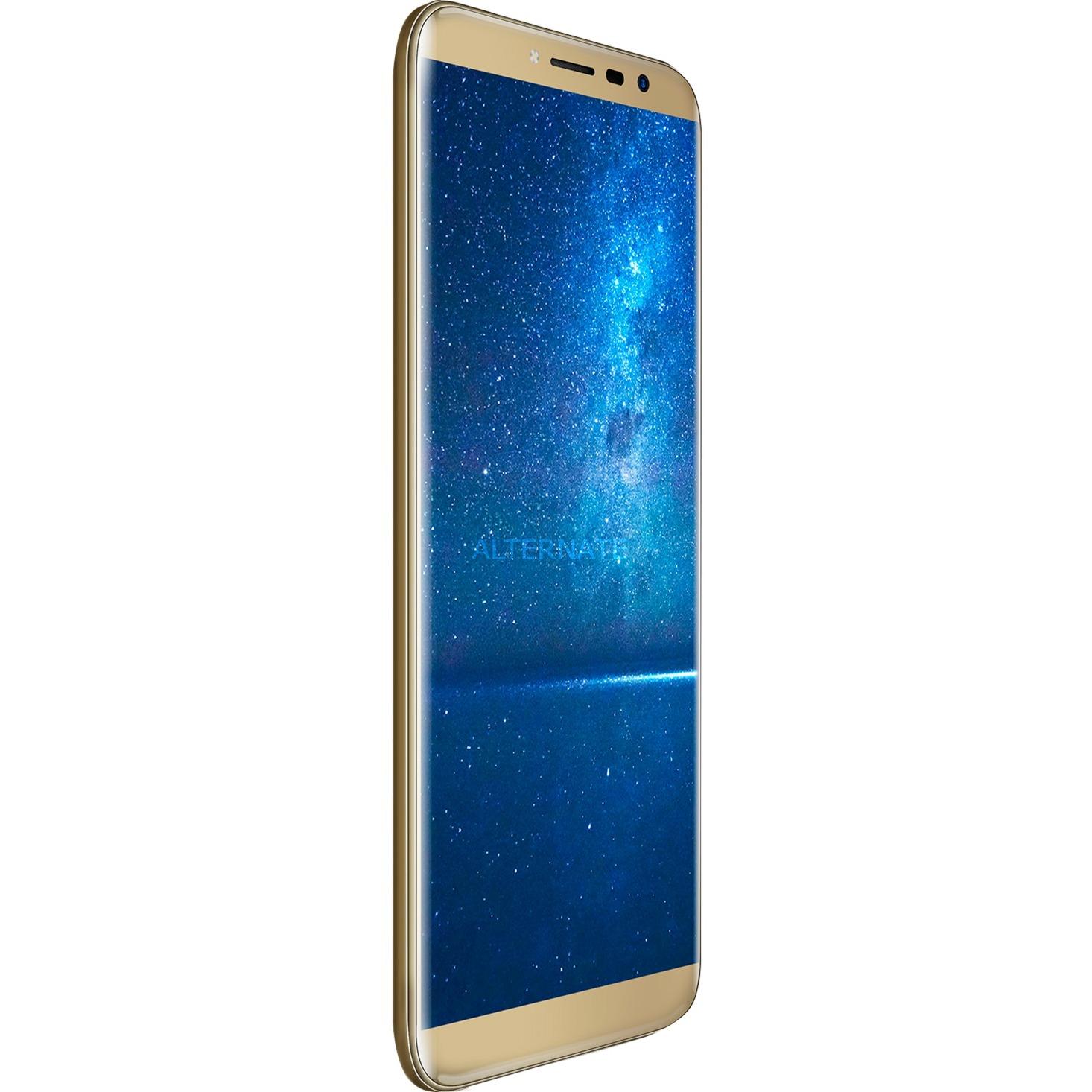 "X18 5.7"" SIM doble 4G 3GB 32GB 3200mAh Oro, Móvil"