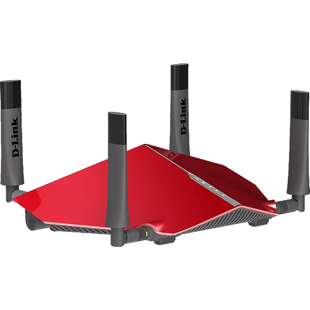 AC3150 Doble banda (2,4 GHz / 5 GHz) Gigabit Ethernet Gris, Rojo router inalámbrico