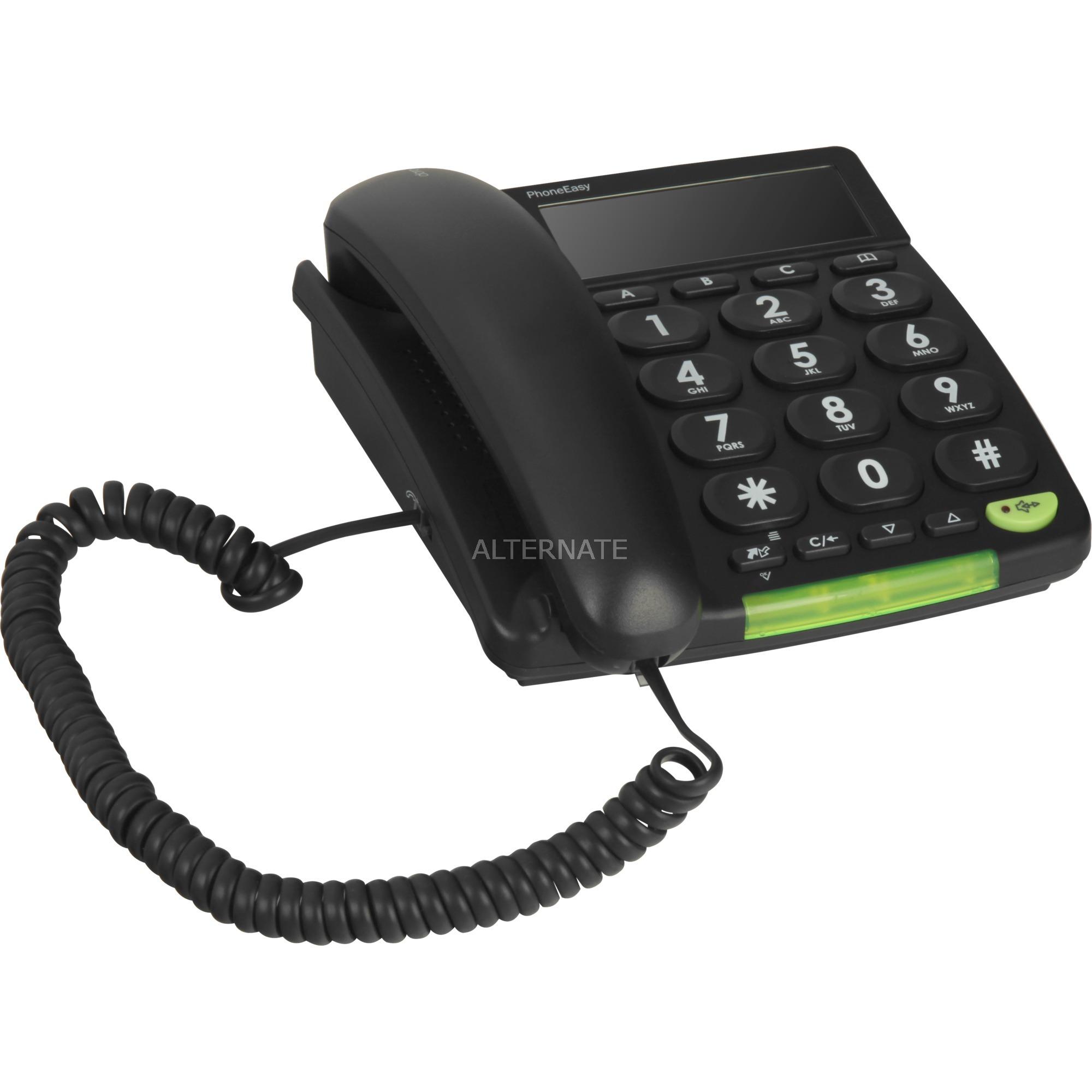 312CS Identificador de llamadas Negro, Teléfono analógico