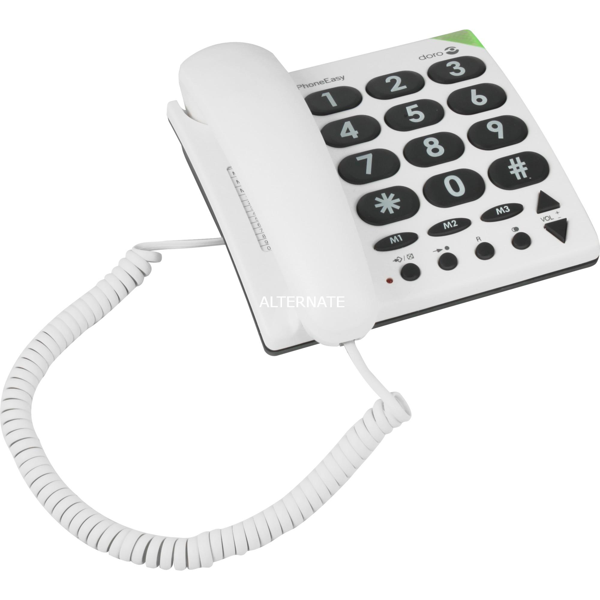 PhoneEasy 311c Teléfono analógico Blanco