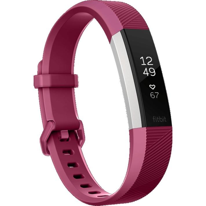 Alta HR Wristband activity tracker OLED Alámbrico/Inalámbrico Rojo, Acero inoxidable, Control de actividad