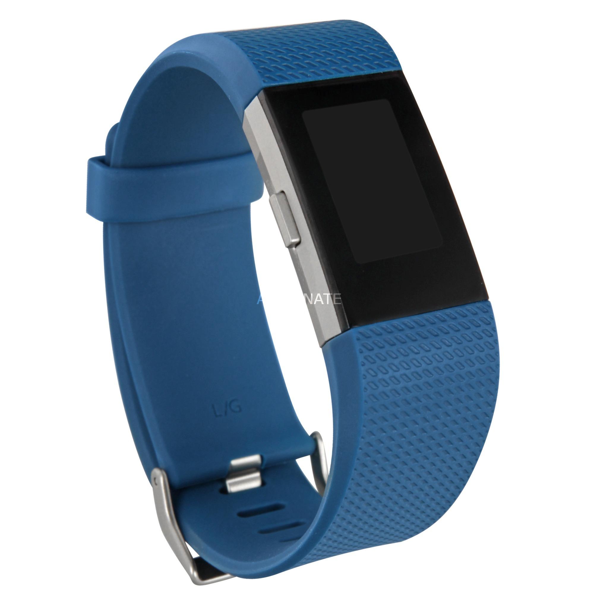 Charge 2 Wristband activity tracker OLED Inalámbrico Azul, Plata, SmartWatch