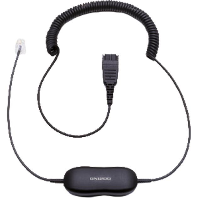 GN1200 0.8m Negro cable telefónico, Adaptador