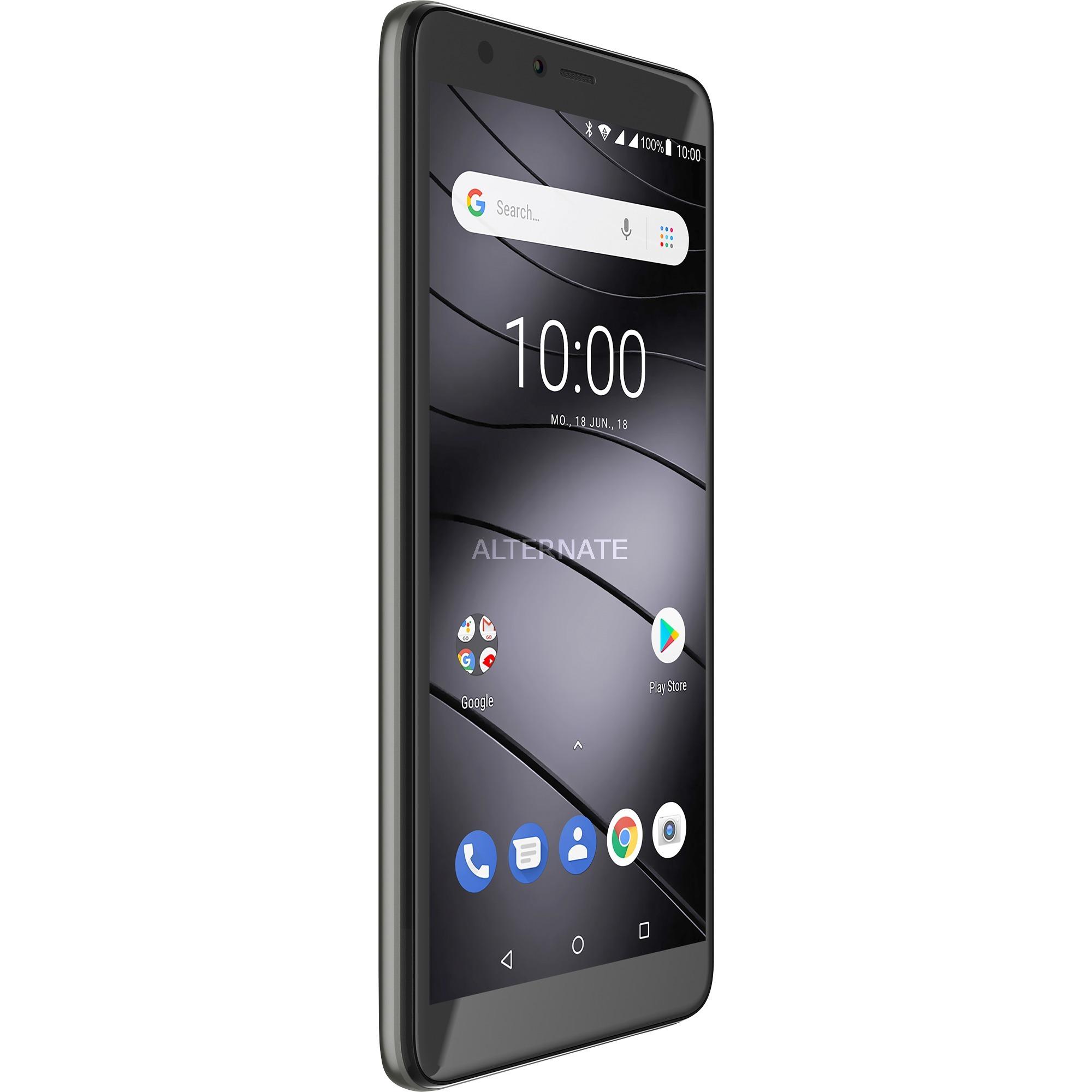 """GS100 14 cm (5.5"""") 1 GB 8 GB SIM doble 4G Gris 3000 mAh, Móvil"""