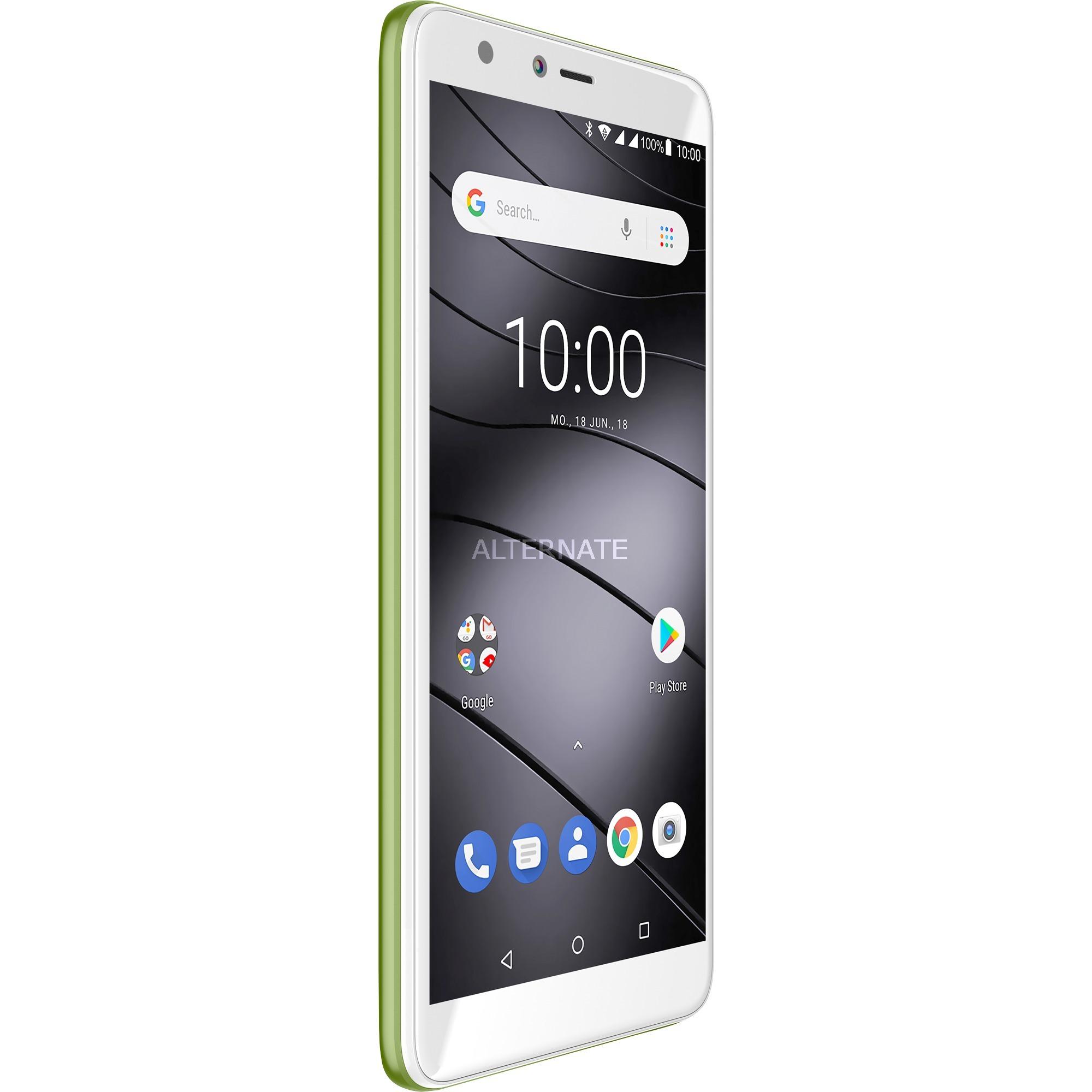 "GS100 14 cm (5.5"") 1 GB 8 GB SIM doble Verde 3000 mAh, Móvil"