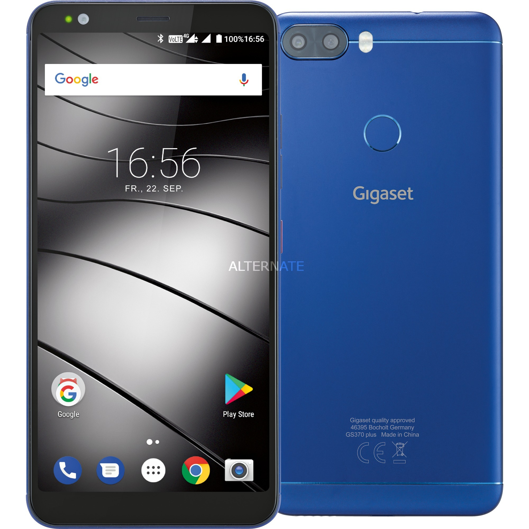 "GS370 plus 5.7"" Ranura híbrida Dual SIM 4G 4GB 64GB 3000mAh Azul, Móvil"