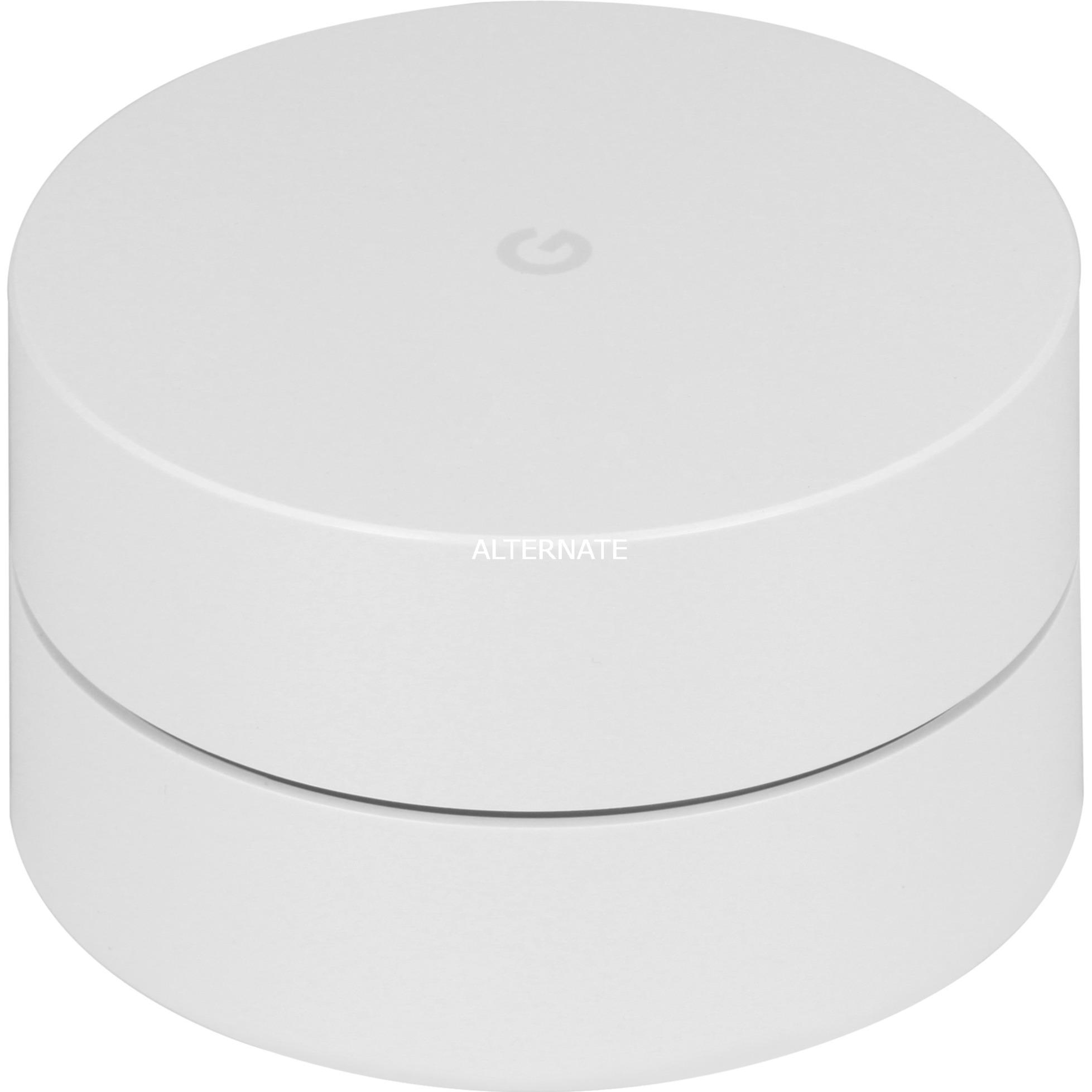 WiFi router inalámbrico Doble banda (2,4 GHz / 5 GHz) Gigabit Ethernet Blanco, Enrutador de malla